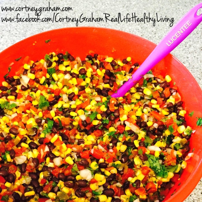 Clean Eating Corn & Black Bean Salsa!